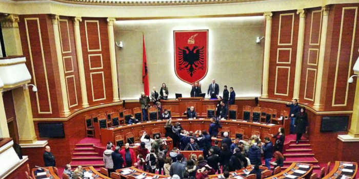 Albanian parliament in session.
