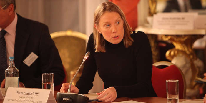 Tracey Crouch as Minister of Youth and Sports.